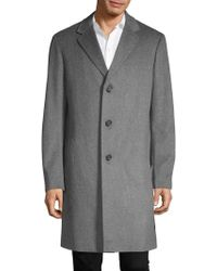 Saks Fifth Avenue - Buttoned Long Coat - Lyst
