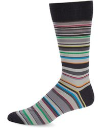 Bugatchi - Multicolored Geometric Socks - Lyst
