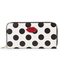 Charlotte Olympia - Polka-dot Leather Wallet - Lyst