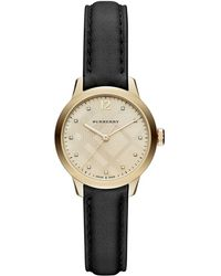 Burberry - Classic Round Strap Watch - Lyst