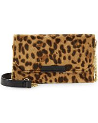 Kendall + Kylie - Bay Leopard Faux Fur Convertible Belt Beg - Lyst