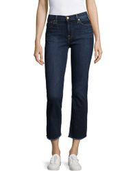 7 For All Mankind - Cropped Boot Jeans - Lyst
