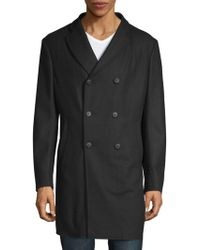 Armani - Double-breasted Wool Coat - Lyst