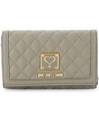 Love Moschino - Quilted Fold-over Wallet - Lyst