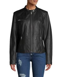 Marc New York - Classic Leather Motorcycle Jacket - Lyst