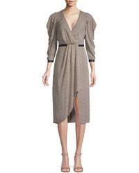 BCBGMAXAZRIA - Patterned A-line Dress - Lyst