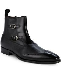 Mezlan - Classic Leather Ankle Boots - Lyst