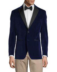 Saks Fifth Avenue Classic Velvet Sportcoat - Blue