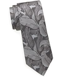 Saks Fifth Avenue Palm Leafs Silk Tie