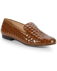 Ava & Aiden - Woven Patent Leather Smoking Slippers - Lyst
