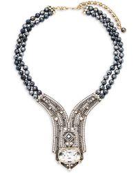 Heidi Daus - Lux Hematite Statement Necklace - Lyst