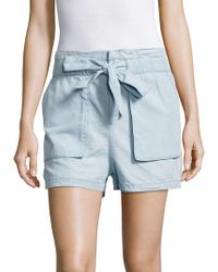 Romeo and Juliet Couture - Ruffled Waist Shorts - Lyst