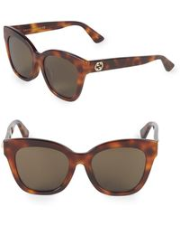 292f4cb15bce2 Lyst - Gucci 59mm Cat Eye Sunglasses in Metallic