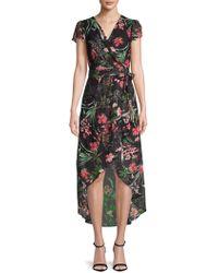 Julia Jordan - Floral Hi-lo Wrap Dress - Lyst
