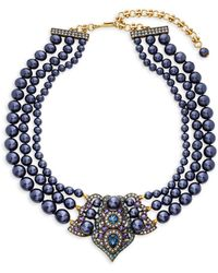 Heidi Daus - Crystal Antiqued Center Collar Necklace - Lyst