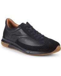 Aquatalia - Zander Woven Leather Sneakers - Lyst