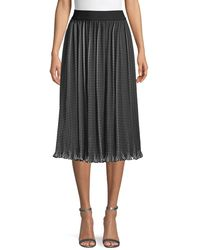 Alice + Olivia - Check-print Pleated Skirt - Lyst