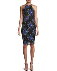 Laundry by Shelli Segal - Floral-embroidered Sheath Dress - Lyst