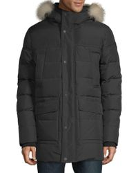 Pajar - Quilted Fox Fur-trimmed Coat - Lyst