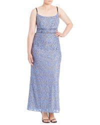 ABS By Allen Schwartz - Floral Lace Gown - Lyst