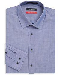 Saks Fifth Avenue - Trim-fit Solid Cotton Dress Shirt - Lyst