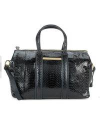Stuart Weitzman - Uptown Textured Leather Satchel - Lyst