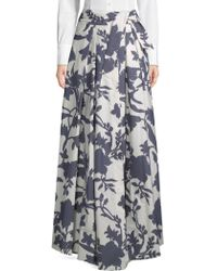 MILLY - Jackie Floral Maxi Skirt - Lyst