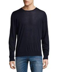 Giorgio Armani - Crewneck Wool Sweater - Lyst