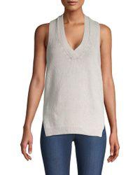 Brochu Walker - Textured Knit Cotton & Linen Tank Top - Lyst