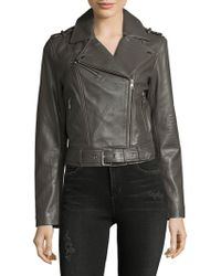 SOIA & KYO - Leather Moto Jacket - Lyst