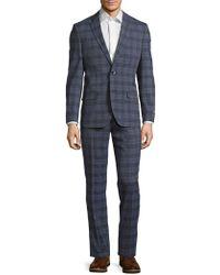 Ben Sherman - Modern Fit Plaid Wool-blend Suit - Lyst