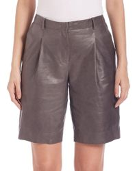 Lafayette 148 New York - Rivington Leather Shorts - Lyst