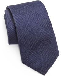Saks Fifth Avenue - Solid Plaid Silk & Wool Tie - Lyst