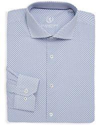 Bugatchi - Printed Cotton Dress Shirt - Lyst