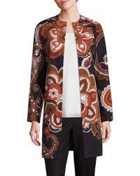 Lafayette 148 New York - Makeda Cotton Fille Paisley-print Coat - Lyst