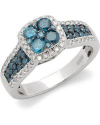 Effy - Diamonds And 14k White Gold Ring - Lyst