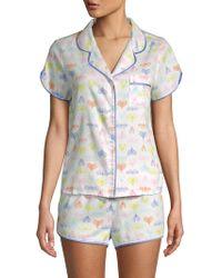 Jane And Bleecker - Multicolored Two-piece Pyjama Set - Lyst