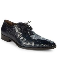 Mezlan - Ostrich Leather Derbys - Lyst