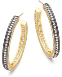 "Freida Rothman - Radiance Hoop Earrings/1.5"" - Lyst"