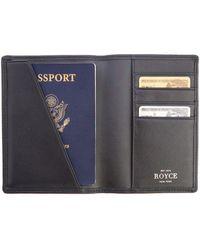 Royce - Rfid Blocking Leather Passport Wallet - Lyst