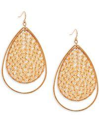 Panacea - Crystal Teardrop Earrings - Lyst