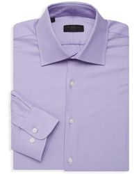 Ike By Ike Behar - Textured Long-sleeve Dress Shirt - Lyst