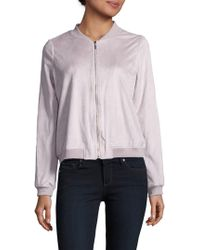 Kensie - Solid Zip-up Jacket - Lyst
