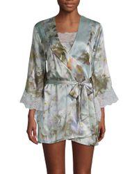 Samantha Chang - Yukata Silk Floral Robe - Lyst