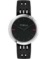 Furla - Capriccio Stainless Steel Leather-strap Watch - Lyst