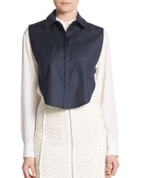 O'2nd - Jeffrey Wool Collar Bib - Lyst