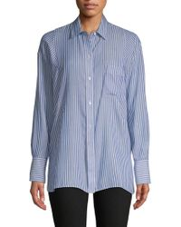 Vince - Classic Striped Button-down Shirt - Lyst