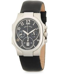 Philip Stein - Stainless Steel Classic Leather-strap Watch - Lyst