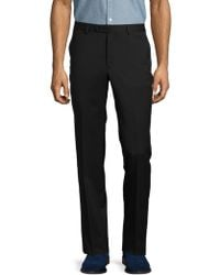 John Varvatos - Solid Woolen French- Bearer Pants - Lyst