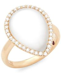 Roberto Coin - 18k Rose Gold Diamonds And Quartz Cocktail Ring - Lyst